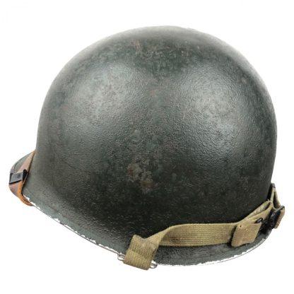Original WWII US M1 Helmet front seam swivel bale