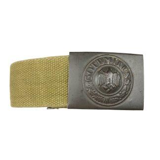 Original WWII German webbing belt with buckle – Hermann Aurich 1941