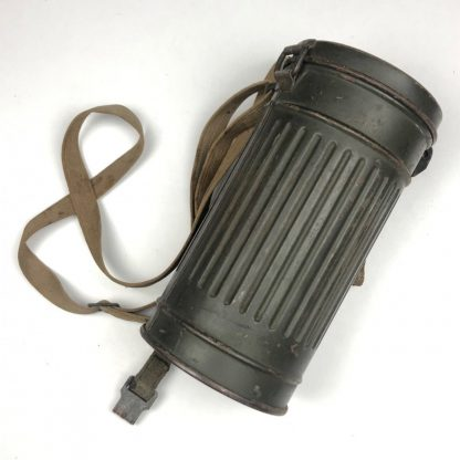 Original WWII German Gasmask in canister with straps