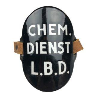 Original WWII Dutch 'Luchtbeschermingsdienst' arm shield Chemische Dienst