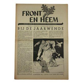 Original WWII Dutch Waffen-SS volunteer newspaper Front en Heem January 1943