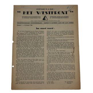 Original WWII Dutch NSB 'Aviation W.A.' magazine
