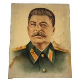 Original WWII Russian painting Jozef Stalin