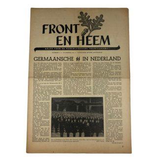Original WWII Dutch Waffen-SS volunteer newspaper Front en Heem December 1942