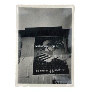 Original WWII Dutch Waffen-SS photo poster