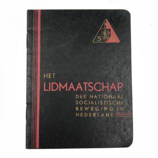 Original WWII Dutch NSB membership booklet Ede