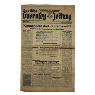 Original WWII German 'Deutsche Guernsey – Zeitung' 3 July 1943