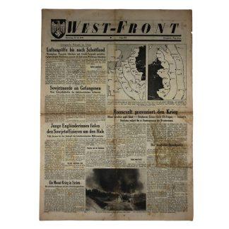 Original WWII German 'West-Front' newspaper 10 July 1941