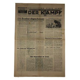 Original WWII German 'Feldzeitung einder Armee – Der Kampf' 14/15 January 1944