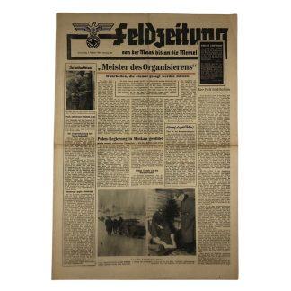 Original WWII German 'Feldzeitung – Von der Maas bis an die Memel' 3 februari 1944