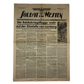 Original WWII German 'Tageszeitung der Armee – Soldat im Westen' 1 July 1941