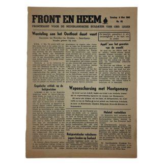 Original WWII Dutch Waffen-SS volunteer newspaper Front en Heem 6 May 1945 – Last number!