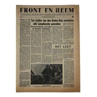 Original WWII Dutch Waffen-SS volunteer newspaper Front en Heem 21 February 1945