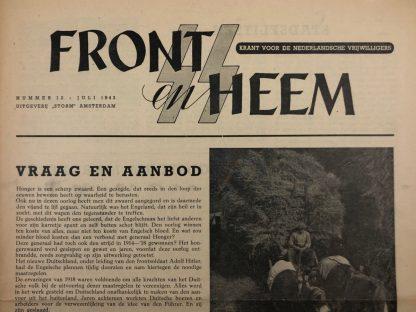 Original WWII Dutch Waffen-SS volunteer newspaper Front en Heem July 1943