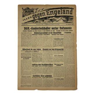 Original WWII German 'Gegen England – Marine Frontzeitung' 1941