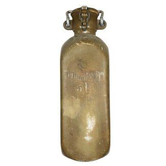 Original WWII German tan colored 5 Liter 'Trink wasser' bottle