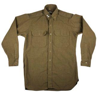 Original WWII US Army captain's shirt - Chemise de capitaine d'armée américaine de la Seconde Guerre mondiale