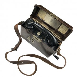 Original WWII German FF33 field telephone with strap