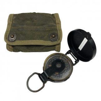 Original WWII US army engineer compass in pouch 1944