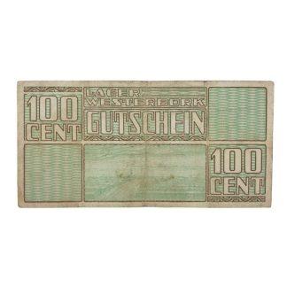 Original WWII Dutch 'Durchgangslager' Westerbork banknote