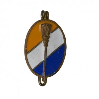 Original WWII Dutch 'De Bezem' enameled pin
