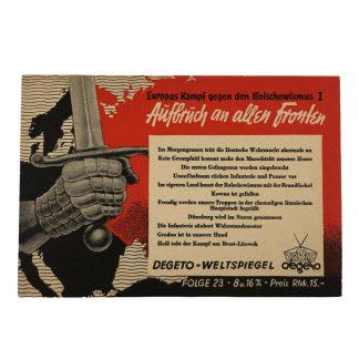Original WWII German postcard Fight against Bolshevism!