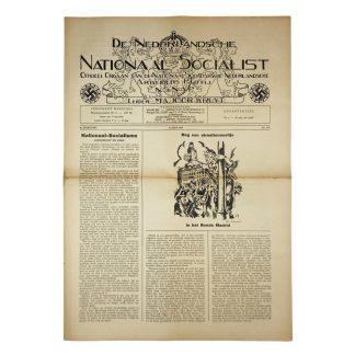 Original WWII Dutch NSNAP newspaper – 16 July 1938