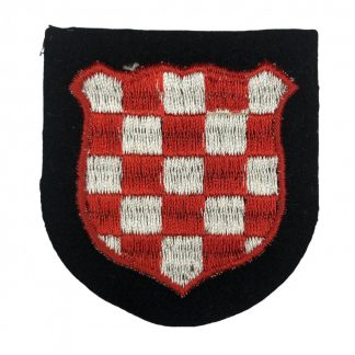 Original WWII German Waffen-SS Croatian 'Handschar' volunteer shield