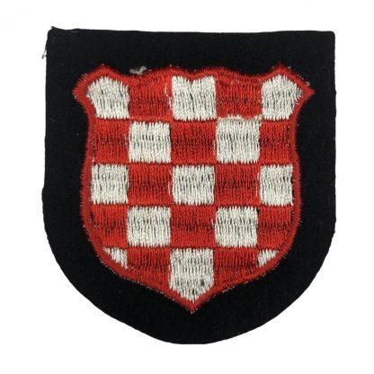 Original WWII German Waffen-SS Croatian 'Handschar' volunteer shield