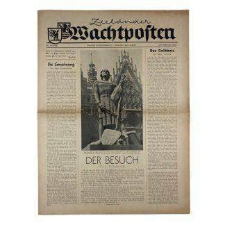 Original WWII German newspaper 'Zeeländer Wachtposten' – Zeeland