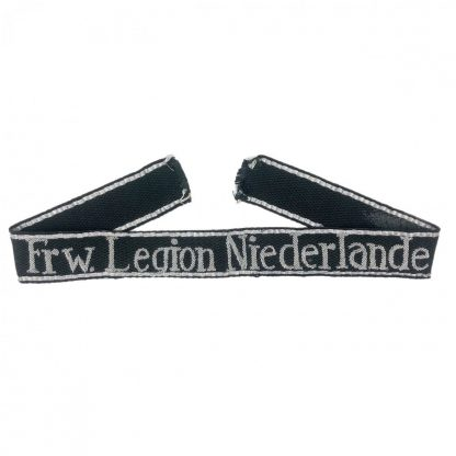 Original WWII Dutch SS-Freiwillige Legion Niederlande officers cuff title