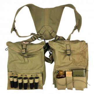 Original WWII US army medical pouches with containment