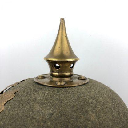 Original WWI German ersatz Infantry Pickelhaube helmet Prussia