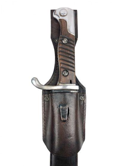 Original WWI Mauser 98 S98/05 'Butcher Saw-back' Bayonet 1907 with frog