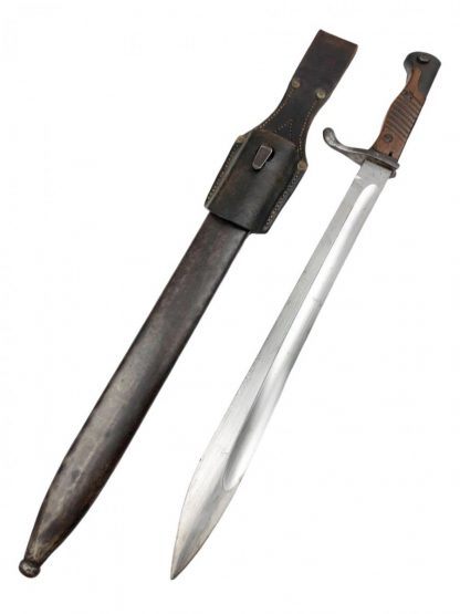 Original WWI Mauser 98 S98/05 'Butcher' Bayonet 1916/17 with frog