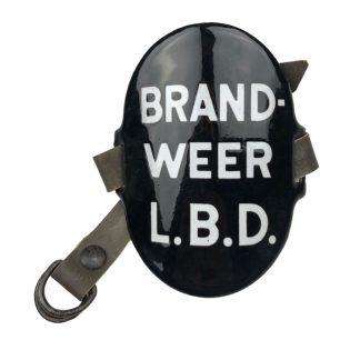 Original WWII Dutch 'Luchtbeschermingsdienst' arm shield Brandweer