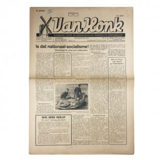 Original WWII Dutch newspaper 'Van Honk' Dutch workers in Germany – 22 May 1944