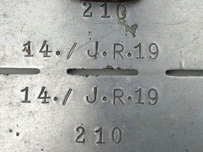 Original WWII German WH 14./I.R.19 Erkennungsmarke
