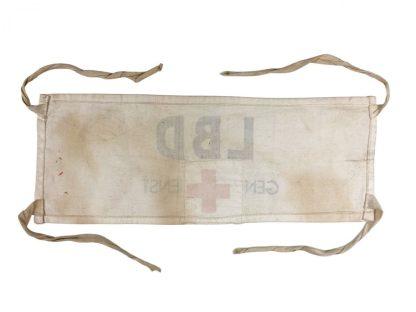 Original WWII Dutch 'Luchtbeschermingsdienst' armband and ID card Grijpskerk