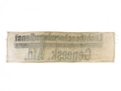 Original WWII Dutch 'Luchtbeschermingsdienst' medical department armband