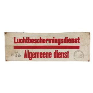 Original WWII Dutch 'Luchtbeschermingsdienst' general service Groningen