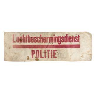 Original WWII Dutch 'Luchtbeschermingsdienst' Police armband Oudenbosch