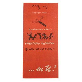 Original WWII Dutch 'Luchtbeschermingsdienst' information flyer