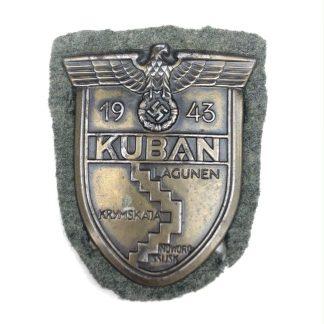 Original WWII German Kuban shield