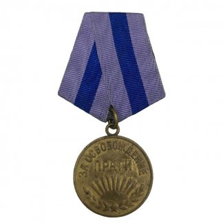 Original WWII Russian 'Liberation of Prague' medal
