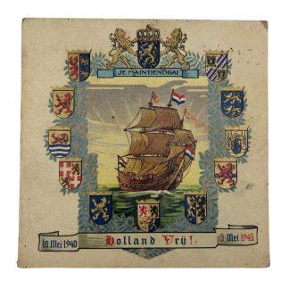 Originele WWII Nederlandse bevrijdingstegel