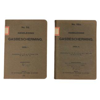 Originele Pré 1940 Nederlands leger gasbescherming handleidingen