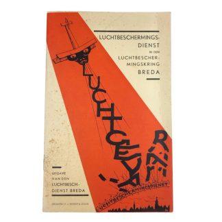 Original WWII Dutch 'Luchtbeschermingsdienst' booklet Breda