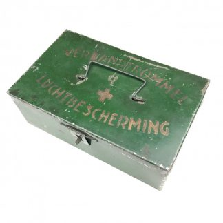 Original WWII Dutch 'Luchtbeschermingsdienst' first aid tin with containment