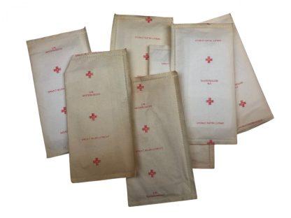 Original WWII Dutch 'Luchtbeschermingsdienst' first aid tin with containment